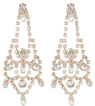 Free Press Vintage Crystal Teardrop Earrings