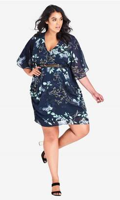 City Chic Citychic Navy Bloom Dress