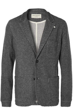 Oliver Spencer Loungewear - Charcoal Unstructured Mélange Woven Blazer