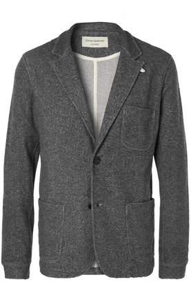 Oliver Spencer Loungewear - Charcoal Unstructured Mélange Woven Blazer