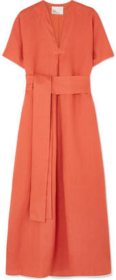 Lisa Marie Fernandez Rosetta Linen Maxi Dress - Orange