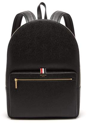 Thom Browne Pebbled Leather Backpack - Mens - Black