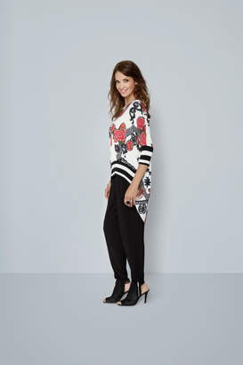 Katherine Barclay Floral Coral Top