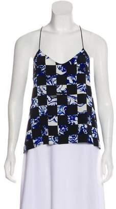 Tibi Silk Sleeveless Printed Blouse