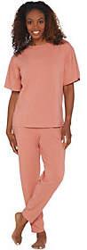 Anybody AnyBody Loungewear Cozy Knit Flutter SleevePajama Set
