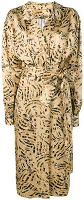 Marni patterned wrap font dress