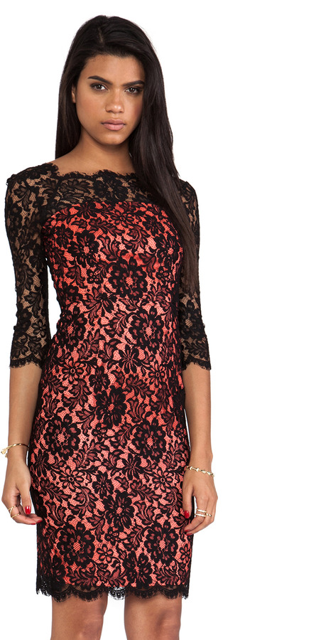 Milly Floral Scalloped Lace Stella Dress
