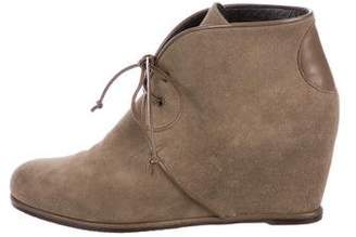 Stuart Weitzman Suede Wedge Boots