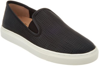 Vince Camuto Leather Slip-On Shoes- Becker