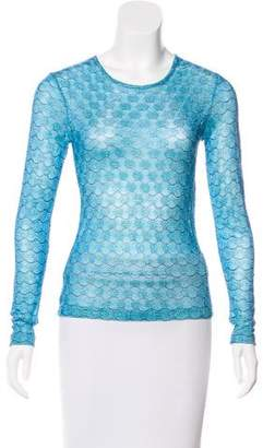 Anna Sui Metallic Patterned Top