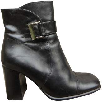 Bally Black Leather Ankle Boots