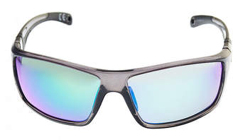 Xersion Shiny Crystal Black Co-Injected Wrap Around Sunglasses