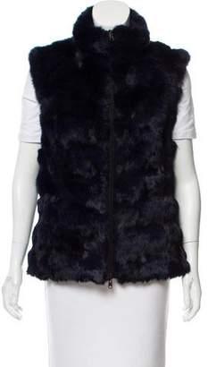 Glamour Puss Glamourpuss Mock Neck Fur Vest w/ Tags