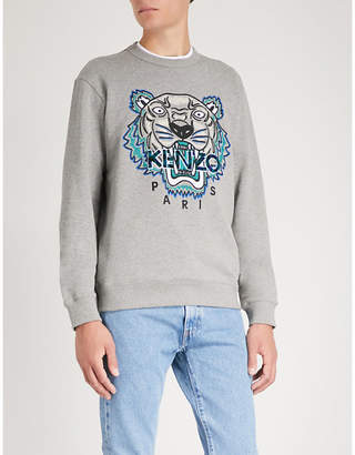 Kenzo Tiger-embroidery cotton sweatshirt