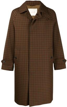 MACKINTOSH BLACKRIDGE Brown Check Wool Oversized Overcoat GM-113F
