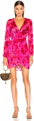 Fleur Du Mal Fil Coupe Mini Wrap Dress in Gia Pink | FWRD