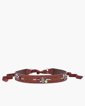 Chico's Flower Jeweled Tie Belt