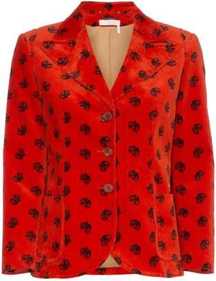 Chloé velvet horse embellished jacket