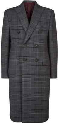 Pal Zileri Wool Check Overcoat
