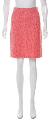St. John Wool Textured Skirt