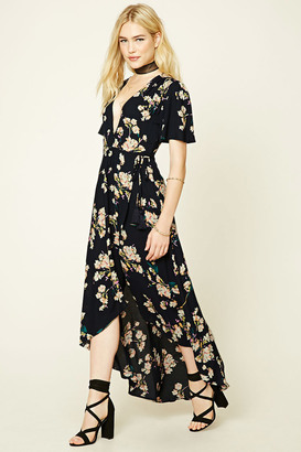 FOREVER 21+ Floral Wrap Maxi Dress $32.90 thestylecure.com