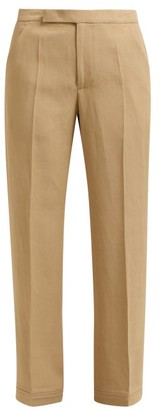Golden Goose Mid Rise Straight Leg Trousers - Womens - Beige