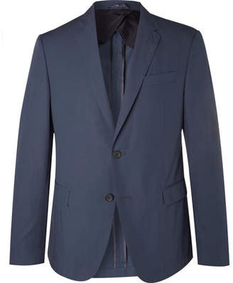 HUGO BOSS Navy Nobis Slim-Fit Cotton-Poplin Suit Jacket - Navy