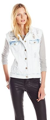 Kensie Jeans Women's Oversized Vest $68 thestylecure.com