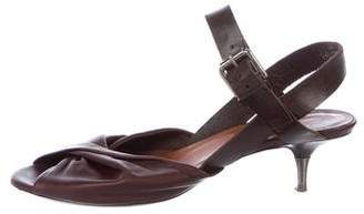 Dries Van Noten Leather Ankle-Strap Sandals