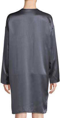 Vince Charmeuse V-Neck Shift Dress
