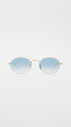 Ray-Ban RB3547N Silver Flash Oval Sunglasses