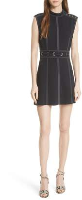 Veronica Beard Niko Contrast Stitch Dress