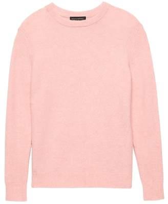 Banana Republic Petite Plush Wool-Blend Crew-Neck Sweater