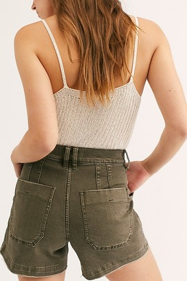 Free People Crvy Day Camp Shorts by Denim