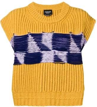 Calvin Klein open knit vest
