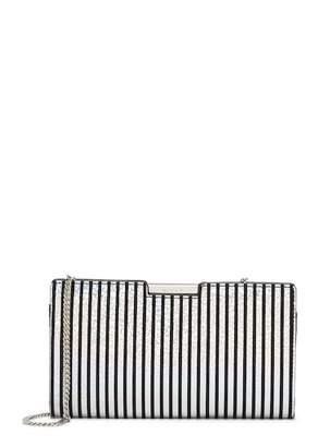 Milly Metallic Stripe Small Frame Clutch