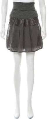 Brunello Cucinelli Wool Mini Skirt Grey Wool Mini Skirt