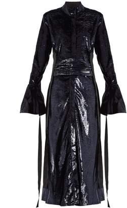 Ellery Tie-waist velvet-effect dress
