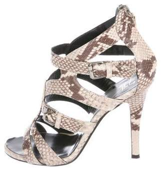 Giuseppe Zanotti Embossed Leather Strap Sandals