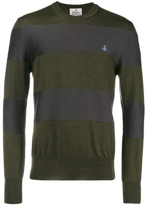Vivienne Westwood striped crew neck sweater