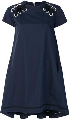 Sacai Lace Up Shoulder Dress