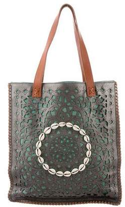 Pre Owned At Therealreal Oscar De La Renta Large Moroccan Tote