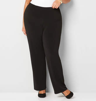 Avenue Solid Pull-On Palazzo Pant