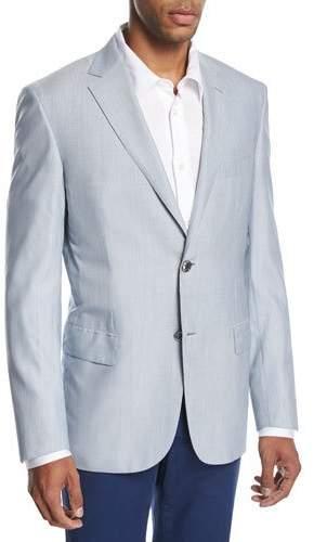 BrioniBrioni Fine-Line Wool-Silk Sport Coat