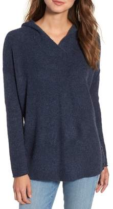 Caslon Side Button Hooded Sweater