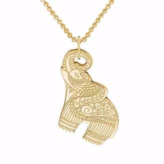 CarterGore - Gold Elephant Pendant Necklace