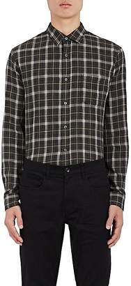 Vince Men's Plaid Double-Faced Cotton Flannel Shirt