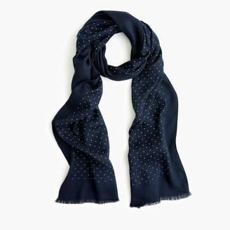 J.Crew Lightweight wool-blend scarf in dot print