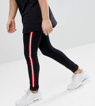 N. Liquor Poker Skinny Jeans With Side Stripe