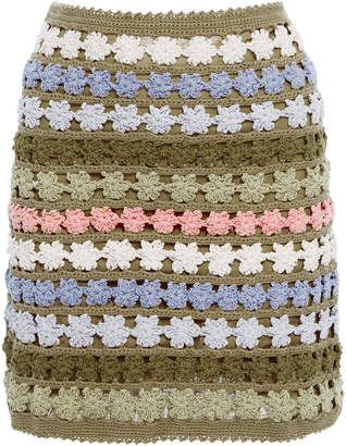 She Made Me Maala Cotton Crochet Skirt